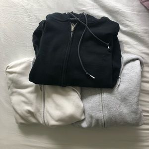 3 zip up hoodie bundle